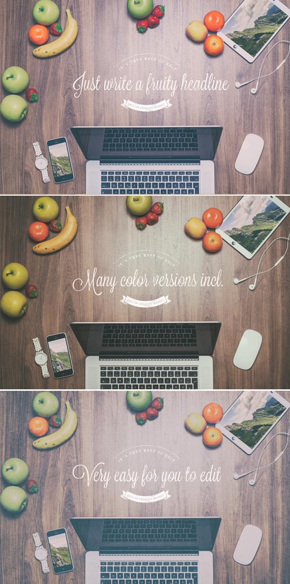 Fruity Header Images - Mock Up by DOMDESIGN