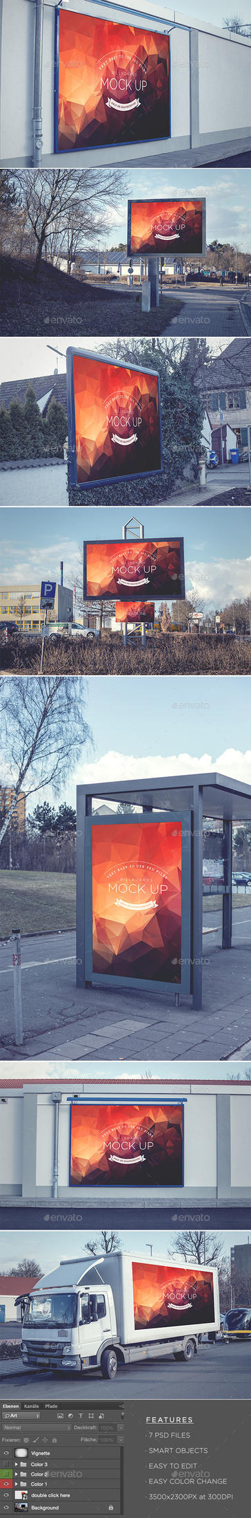 Billboards - Realistic Mock Up by DOMDESIGN