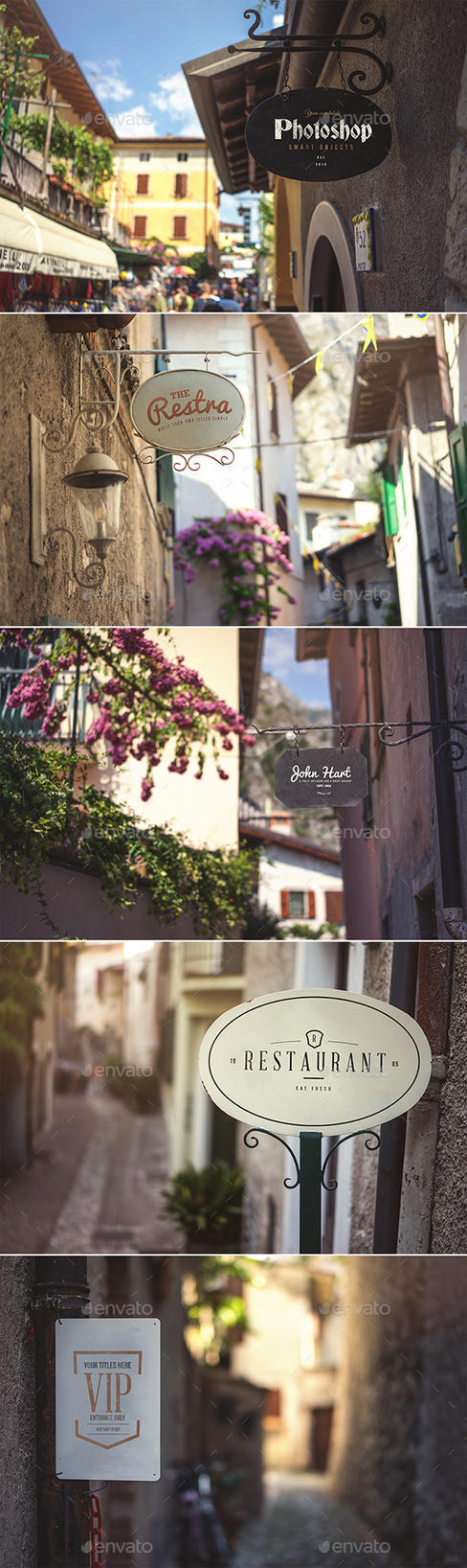 Shop Signs - Realistic Mock Up by DOMDESIGN