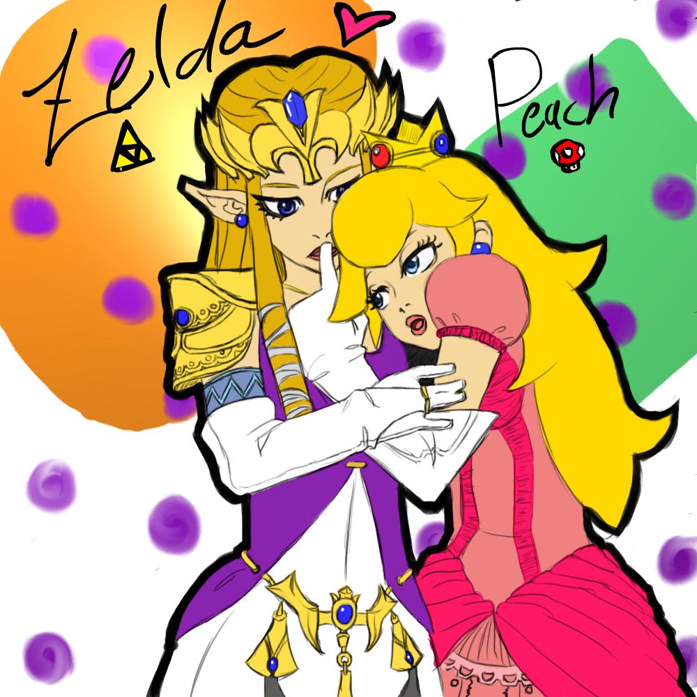 Zelda x Peach color by MajinSwen on DeviantArt
