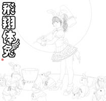 chinese zodiac year of the rabbit yukina lineart