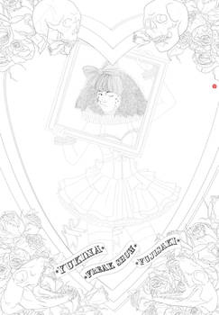 circus freak show lineart