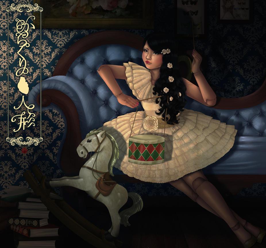 victorian marionette lolita puppet doll by Rijio