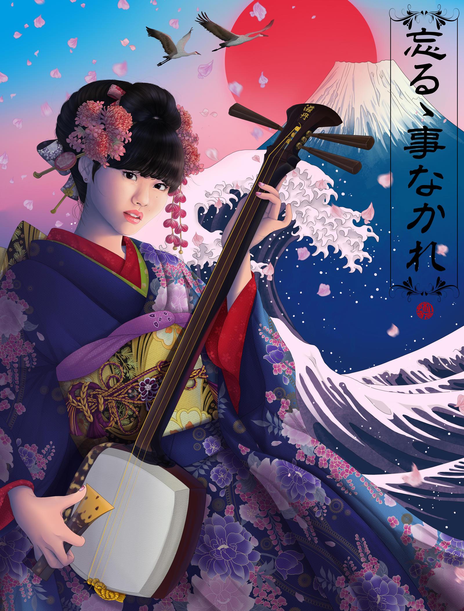 JAPANESE LEGENDS Yukina Fujisaki Colored by Rijio