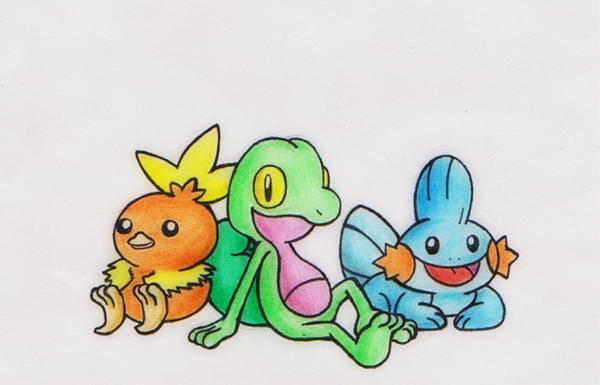Pokemon Generation 3: Hoenn Starter by GTS257-CT on DeviantArt