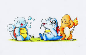 Totodile use bubble?! by GTS257-CT