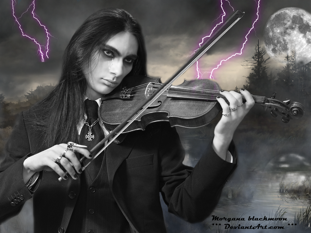Gothic love and violin.... by morganablackmoon on DeviantArt  Gothic love and...