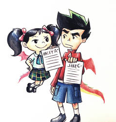 Brother and sister by moyashi252525