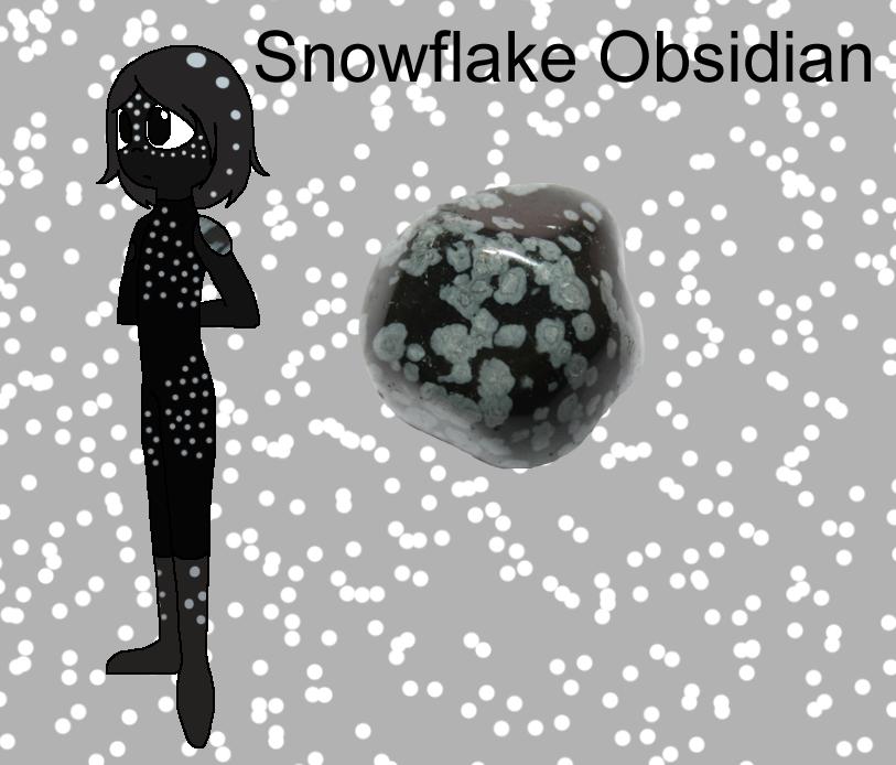 snowflake obsidian gemsona by - photo #18