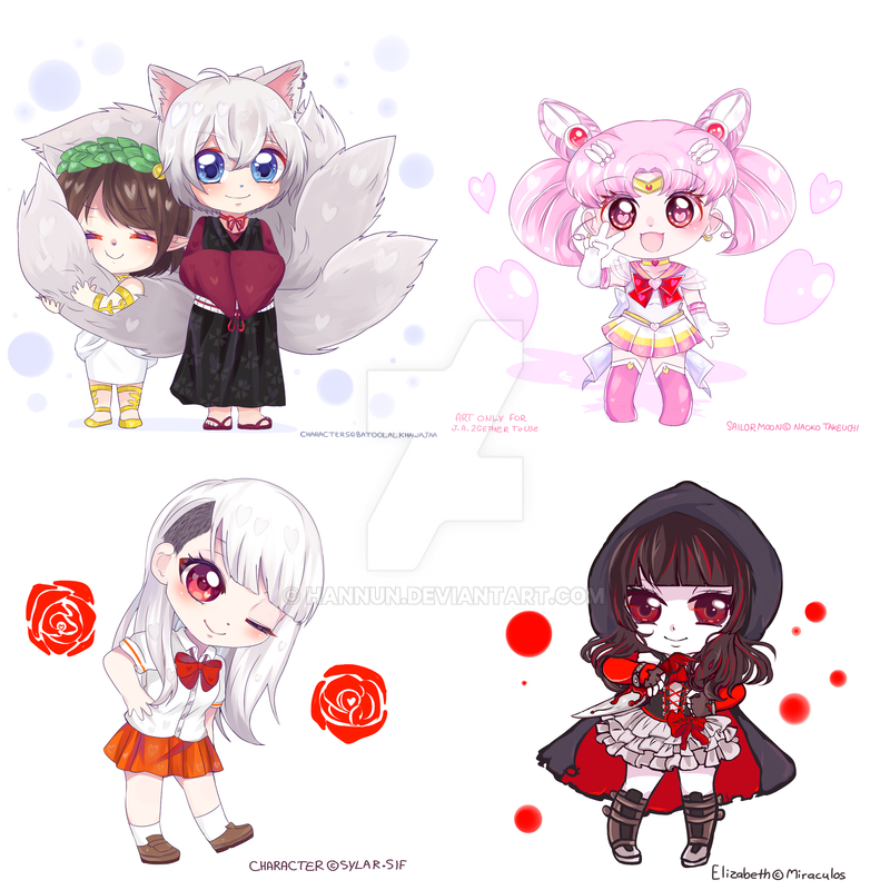 chibi Commissions batch by Hannun