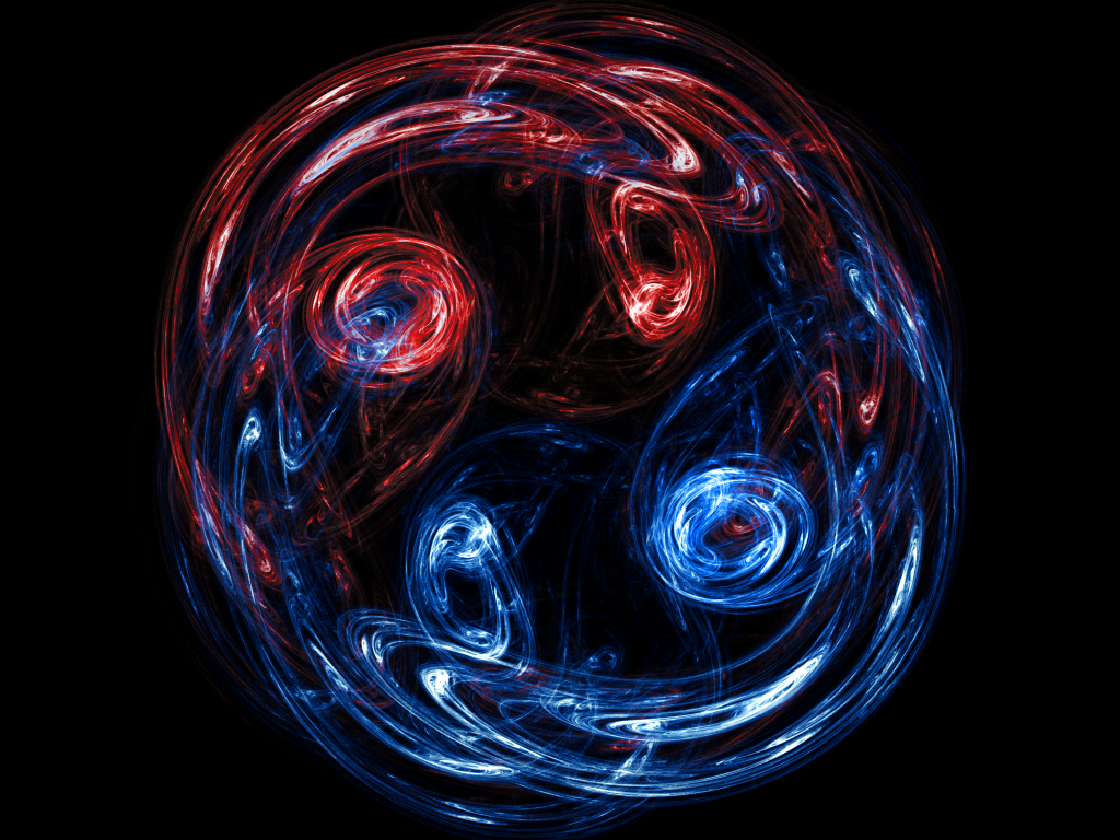red blue swirl by xanthil