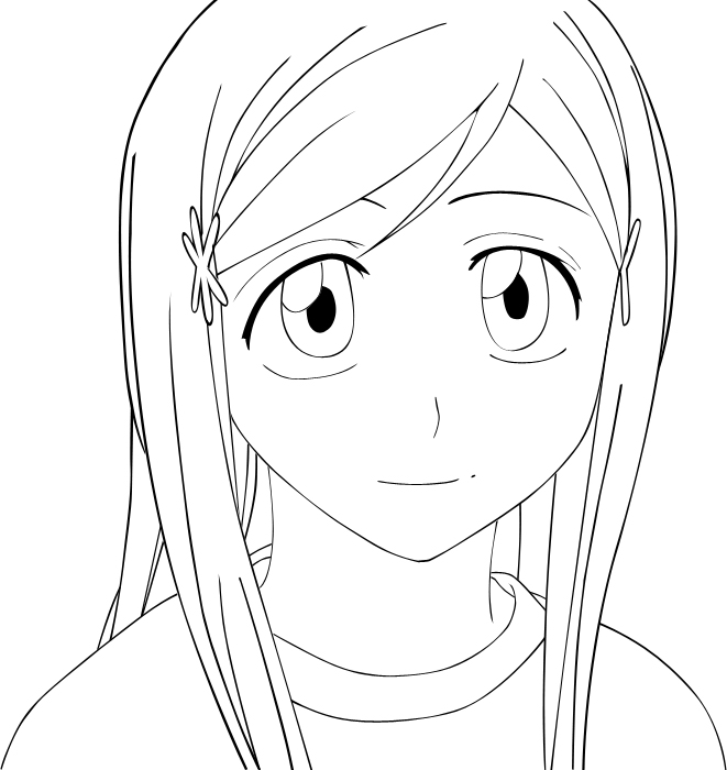 Inoue orihime by chelseavance lineart on deviantart - Coloriage bleach ...