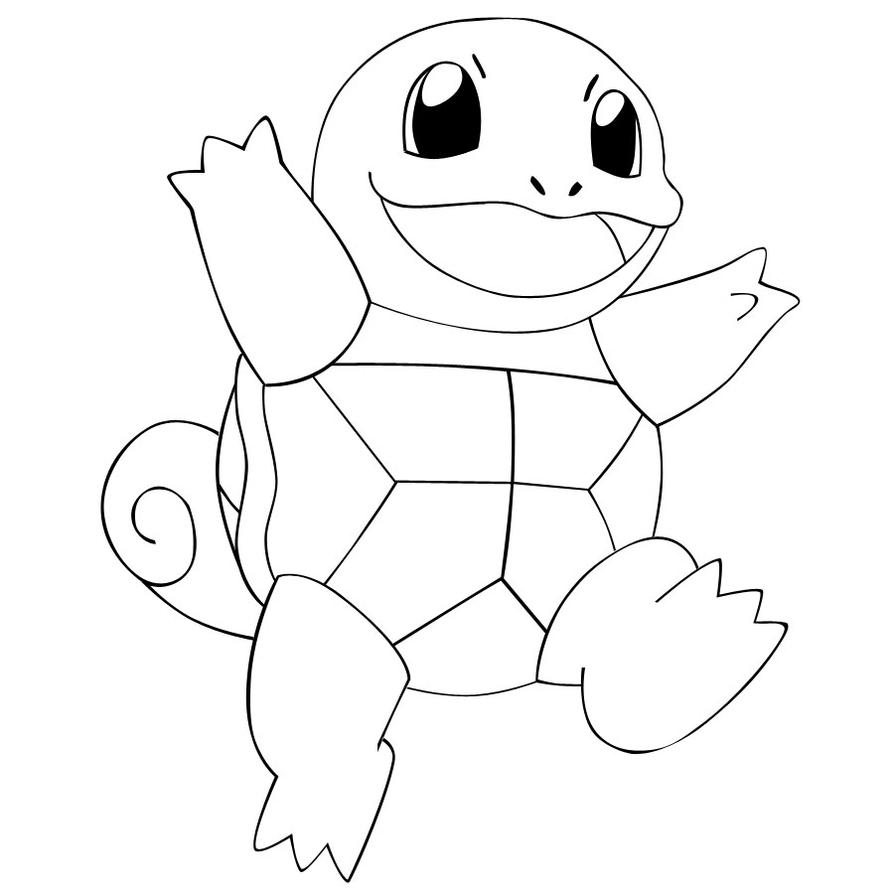 pokegang squirtle i by chelseavance lineart on deviantart