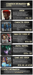 [Open][Paypal] Commissions Prices for 2018-2019 by Azzyfree-art