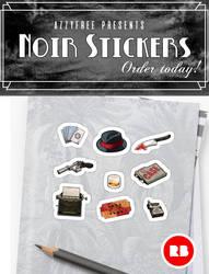 Noir Stickers by Azzyfree-art