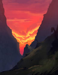 Sunset Valley by Leinty