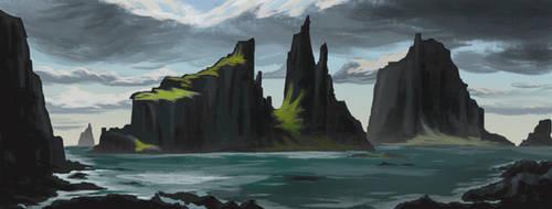 Landscape study by Leinty