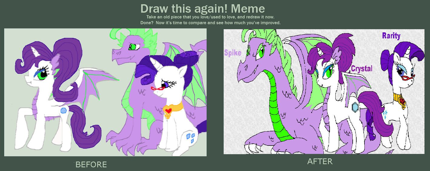 Draw This Again Meme Raritys Family By Purfectprincessgirl On