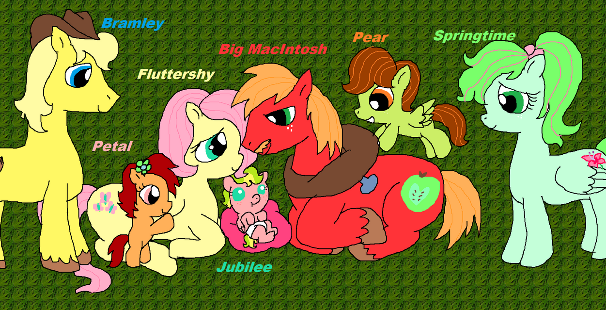 Fluttershy and Big Mac Family