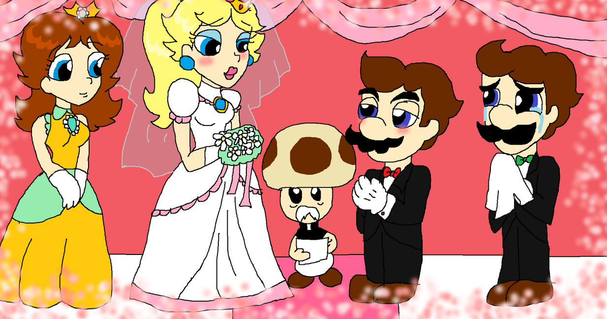 Mario and Peach's Wedding Day by PurfectPrincessGirl on ...