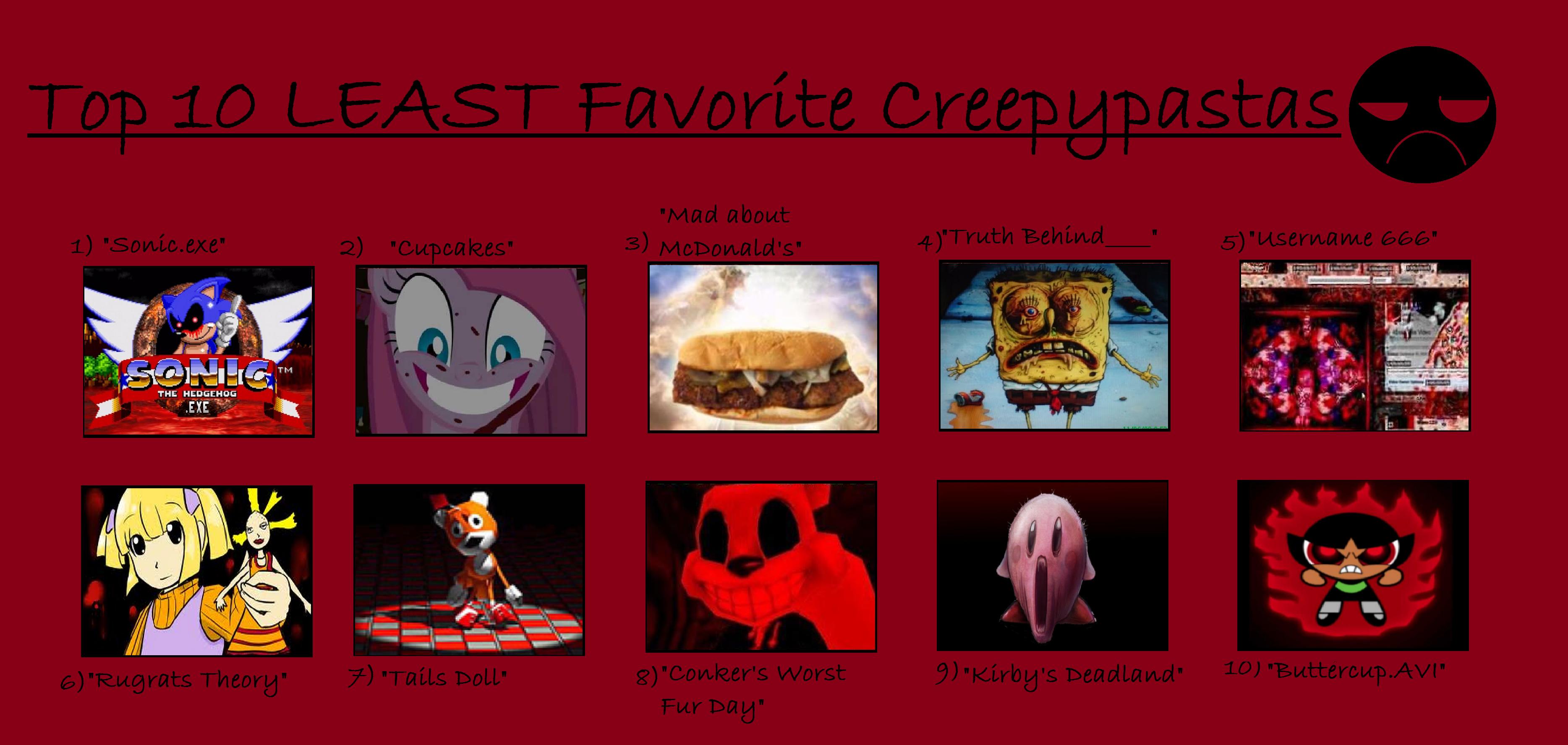 My top 10 least favorite creepypastas by purfectprincessgirl on