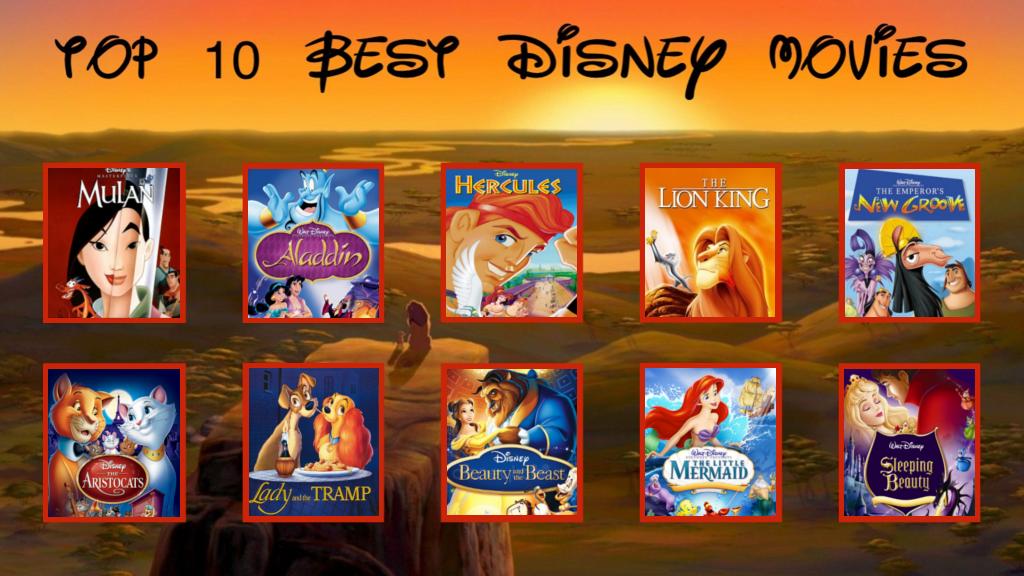 Top 10 Favorite Childhood Disney Movies by ...