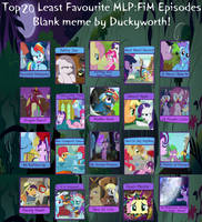 Top 20 Least Favorite MLP Episodes (Remade)