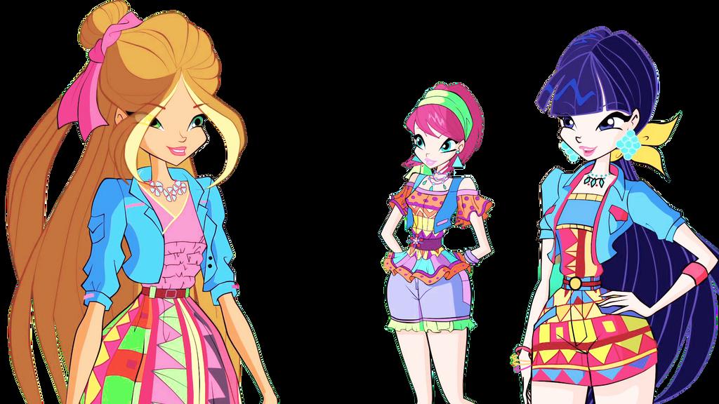 Winx club Flora|Musa|Tecna by misssul on DeviantArt