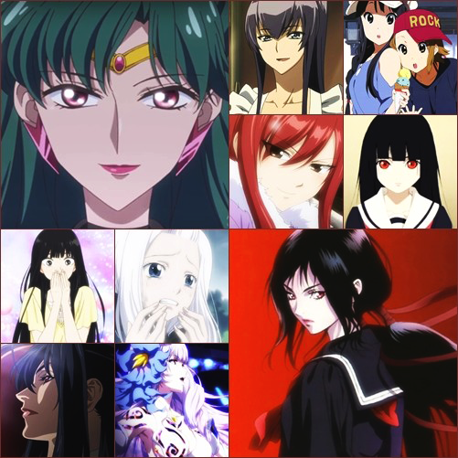 Top 6 Anime Characters : My top favorite female anime characters by misssul on