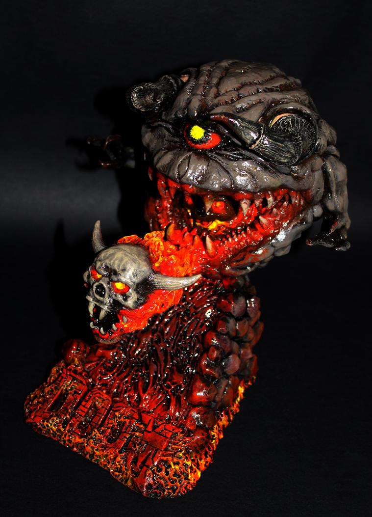 Lost Soul Doom Deviantart: DOOM 2: Pain Elemental Belchs Lost Soul By Kaiju-collector
