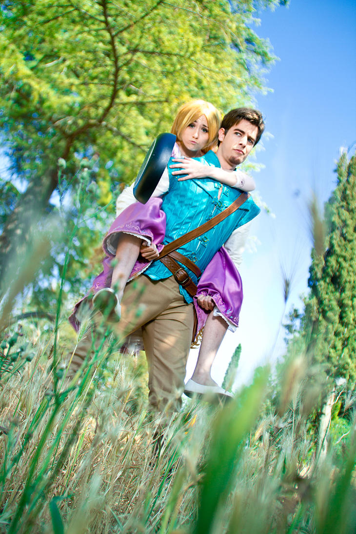 Rapunzel and Flynn Rider by NunnallyLol