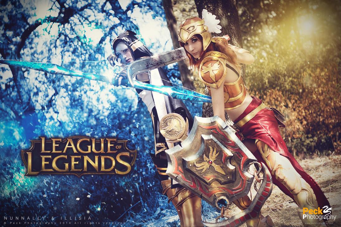 Ashe and Leona - League of Legends by NunnallyLol