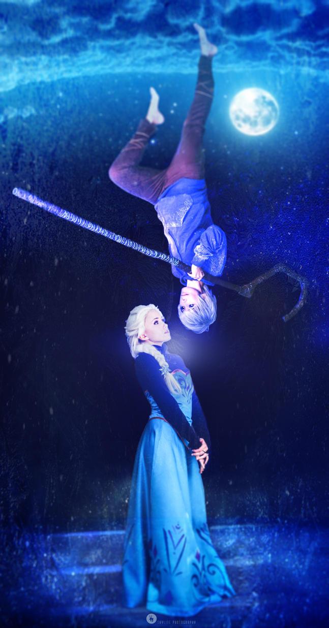 Elsa and Jack Frost by NunnallyLol