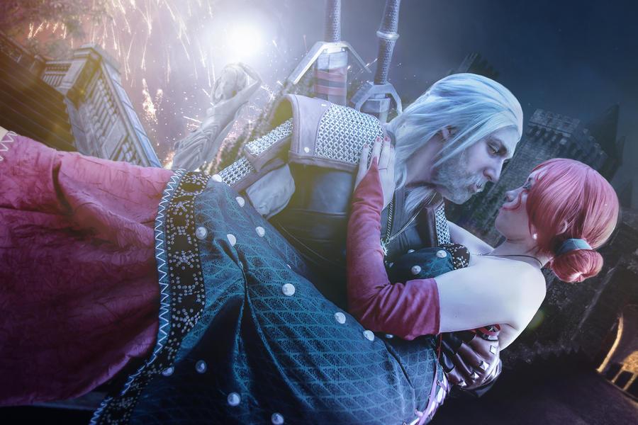 Triss and Geralt Maskenball by NunnallyLol