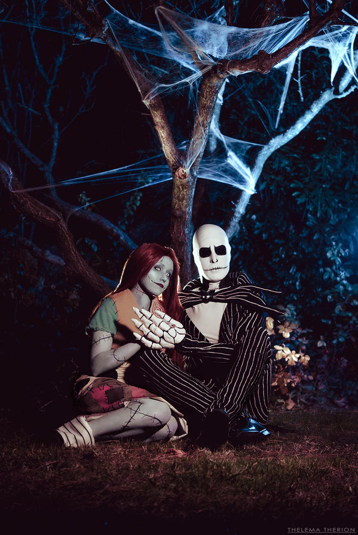 Jack and Sally - Nightmare before Christmas by NunnallyLol