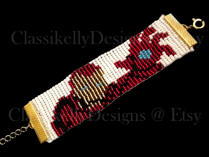 Iron Man Beaded Bracelet by Classikelly