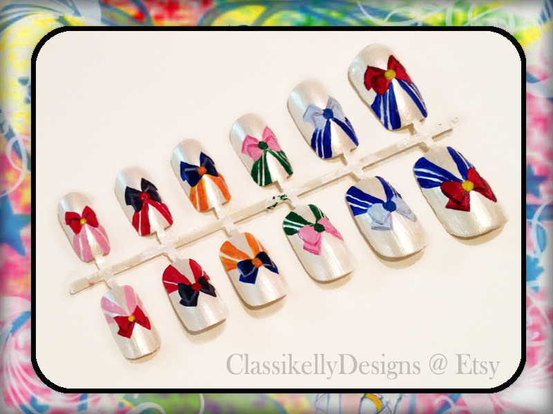 Sailor Moon Nail Art by Classikelly