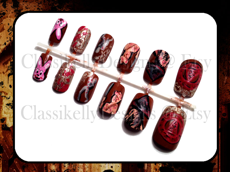 Silent Hill Glow in the Dark Nail Art by Classikelly on DeviantArt