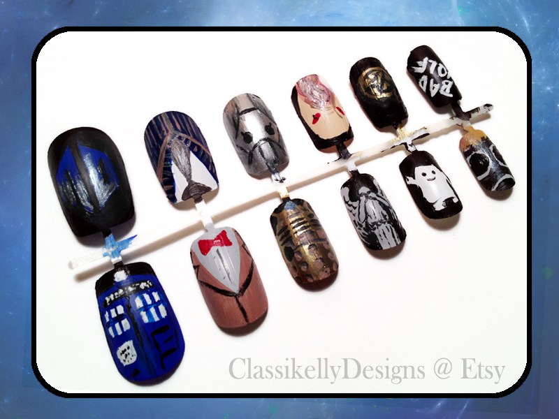Doctor Who Nail Art by Classikelly on DeviantArt