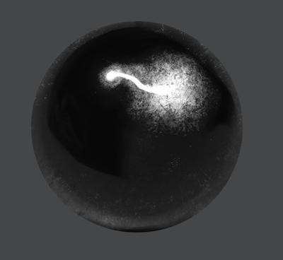 Material Study - Dark Steel Ball by Valtyr