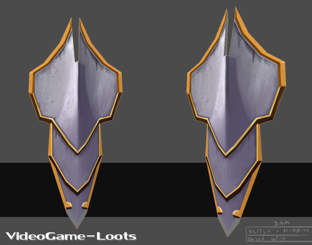 Fantasy Shield WIP Update by Valtyr