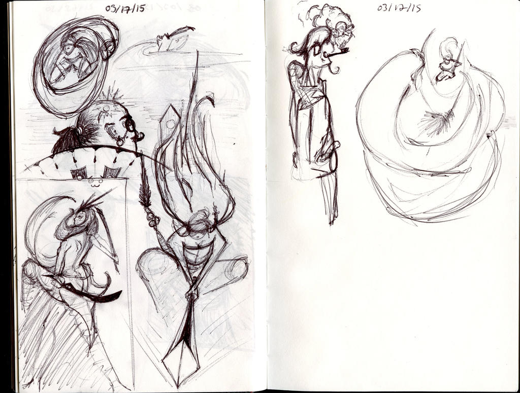 Stop Light Sketches 3-17-15 by Valtyr