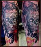 Zombie leg tattoo