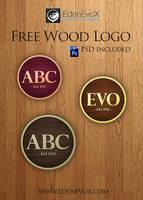 Free wood logo PSD by EdenEvoX