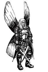 Dead Head elf. Sketch. by T-Nightingale