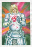 White knight with the Ruby heart by T-Nightingale