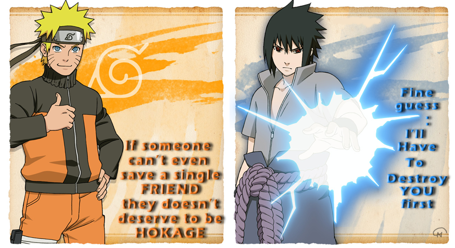 Naruto Quotes About Friendship Brilliant Naruto And Sasuke With Quotesinmoeview On Deviantart