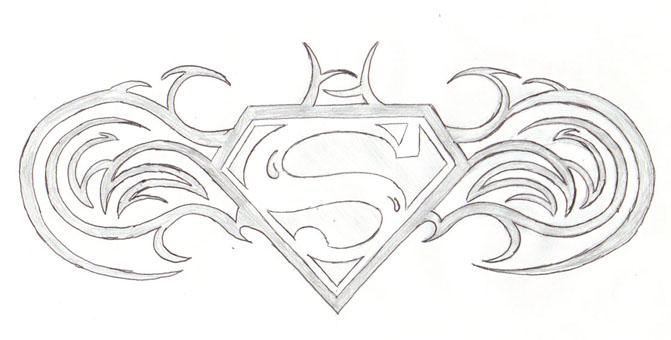 Superman - Batman Logo Tattoo by ~CatherineBruce on deviantART