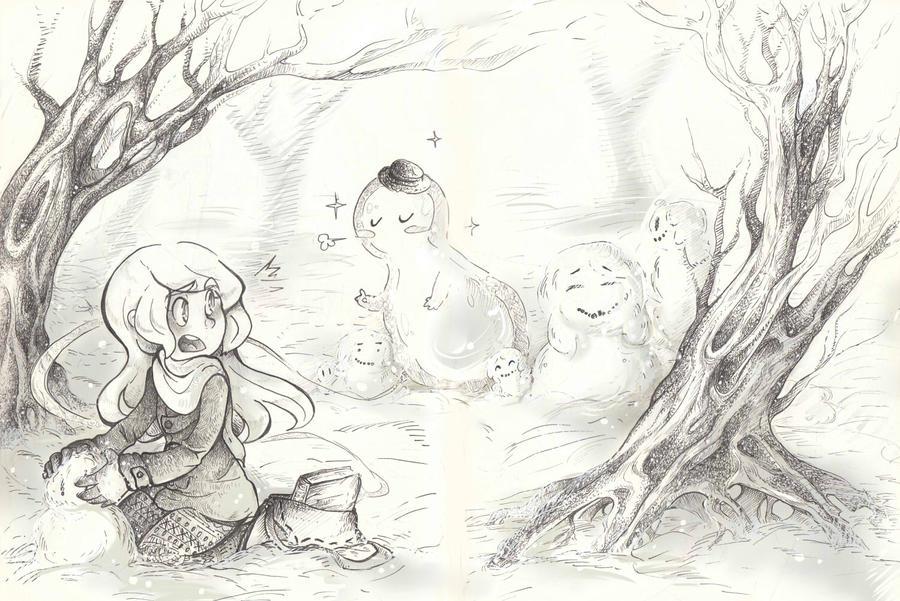 Bookmonster_snowman by Tegraliz