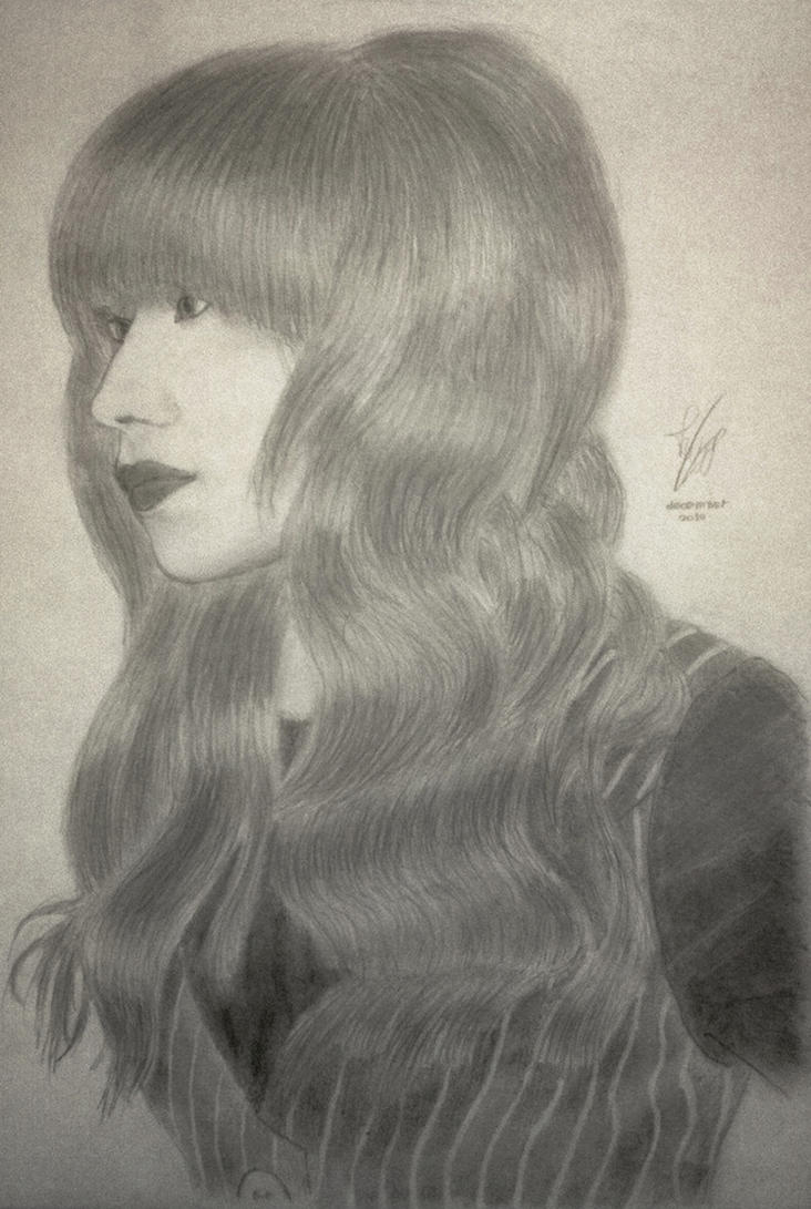 First realistic sketch: Girl with bold bangs by FabianWiegers